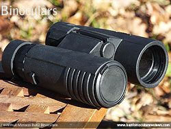 Objective Lens Covers on the Levenhuk Monaco 8x42 Binoculars