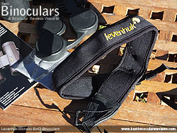 Neck Strap included with the Levenhuk Monaco 8x42 Binoculars