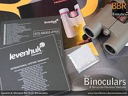 Warranty Card & Cleaning Cloth for the Levenhuk Monaco ED 8x32 Binoculars