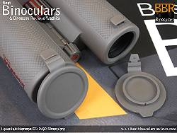 Lens Covers on the Levenhuk Monaco ED 8x32 Binoculars