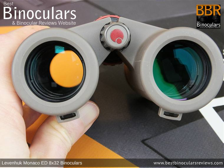 Objective Lenses on the Levenhuk Monaco ED 8x32 Binoculars