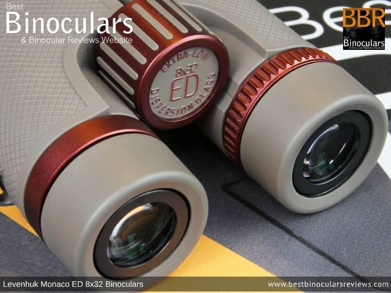 Ocular Lenses on the Levenhuk Monaco ED 8x32 Binoculars