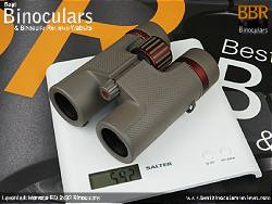 Weighing the Levenhuk Monaco ED 8x32 Binoculars