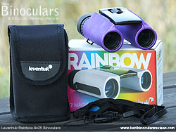 Levenhuk Rainbow 8x25 Binoculars with accessories
