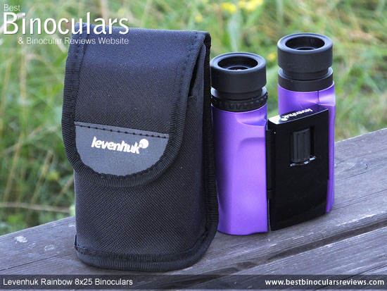 Carry Pouch and the Levenhuk Rainbow 8x25 Binoculars