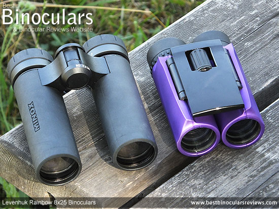 evenhuk Energy PLUS binoculars size comparison