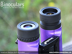 Eyecups on the Levenhuk Rainbow 8x25 Binoculars