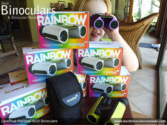 Levenhuk Rainbow binoculars - available in 7 bright colors