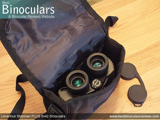 Inside the Levenhuk Sherman Plus 8x42 Binoculars Carry Case