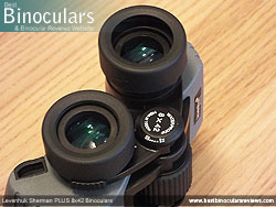 Eyecups on the Levenhuk Sherman Plus 8x42 Binoculars