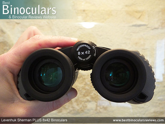 Adjusting the Focus Wheel on the Levenhuk Sherman Plus 8x42 Binoculars