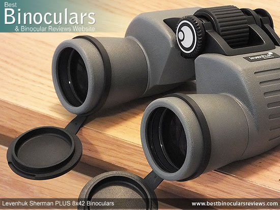 42mm Objective Lenses on the Levenhuk Sherman Plus 8x42 Binoculars