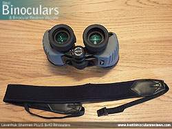 Neck Strap included with the Levenhuk Sherman Plus 8x42 Binoculars