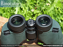 Eyecups on the Levenhuk Sherman Pro 8x32 Binoculars