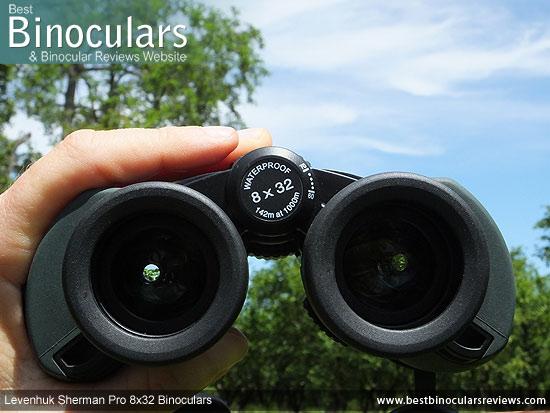 Adjusting the Focus Wheel on the Levenhuk Sherman Pro 8x32 Binoculars