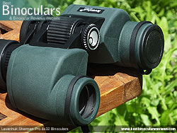 Objective Lens Covers on the Levenhuk Sherman Pro 8x32 Binoculars