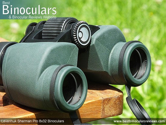 42mm Objective Lenses on the Levenhuk Sherman Pro 8x32 Binoculars
