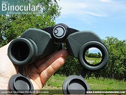 Reverse view through the Levenhuk Sherman Pro 8x32 Binoculars