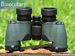 Underside of the Levenhuk Sherman Pro 8x32 Binoculars