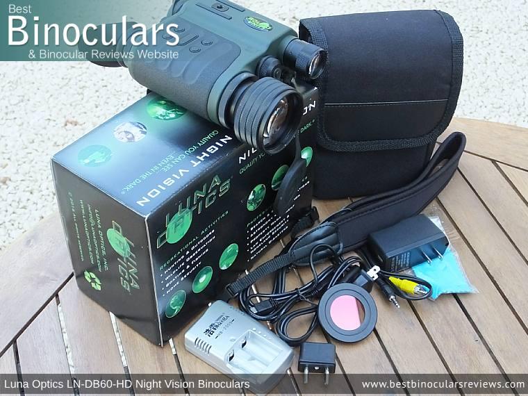 Carry case that comes with the Luna Optics LN-DB60-HD Digital Night Vision Binocular
