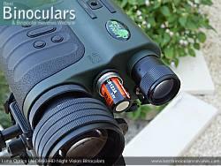 Battery Compartment on the Luna Optics LN-DB60-HD Digital Night Vision Binocular