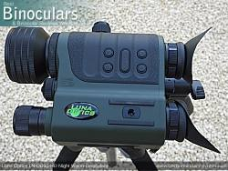 Main Controls on the Luna Optics LN-DB60-HD Digital Night Vision Binocular