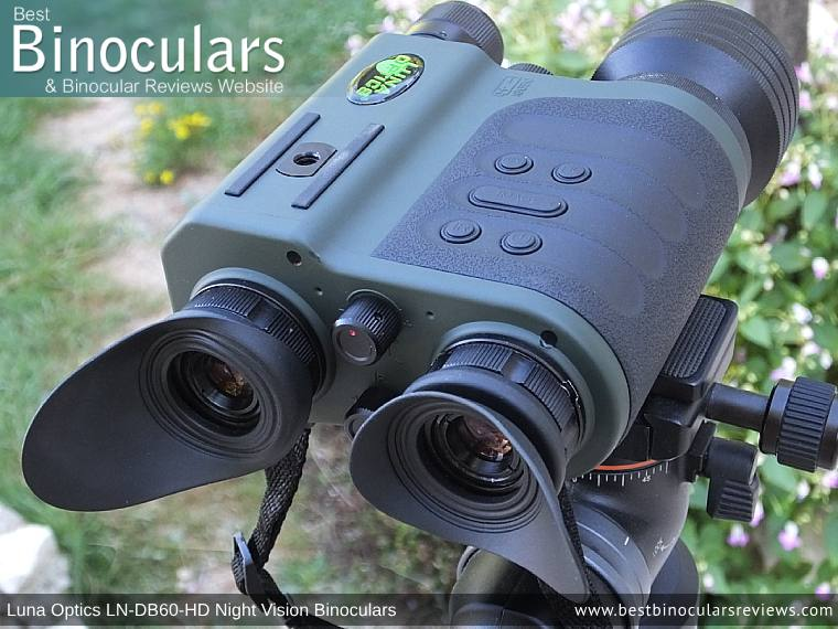 Eyepiece on the Luna Optics LN-DB60-HD Digital Night Vision Binocular