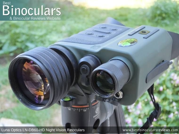Built-in IR illuminator on the Luna Optics LN-DB60-HD Digital Night Vision Binocular
