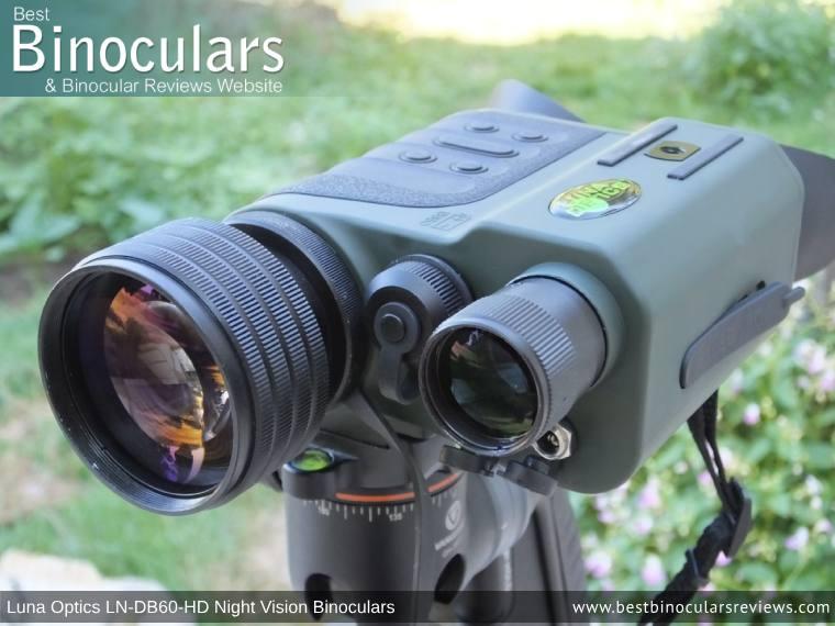 Built-in IR illuminator on the Luna Optics LN-DB60-HD Digital Night Vision Binocular