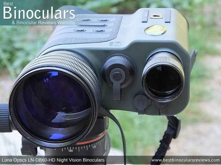 50mm Objective Lens on the Luna Optics LN-DB60-HD Digital Night Vision Binocular