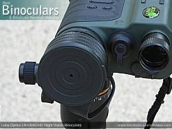Objective Lens Cover on the Luna Optics LN-DB60-HD Digital Night Vision Binocular