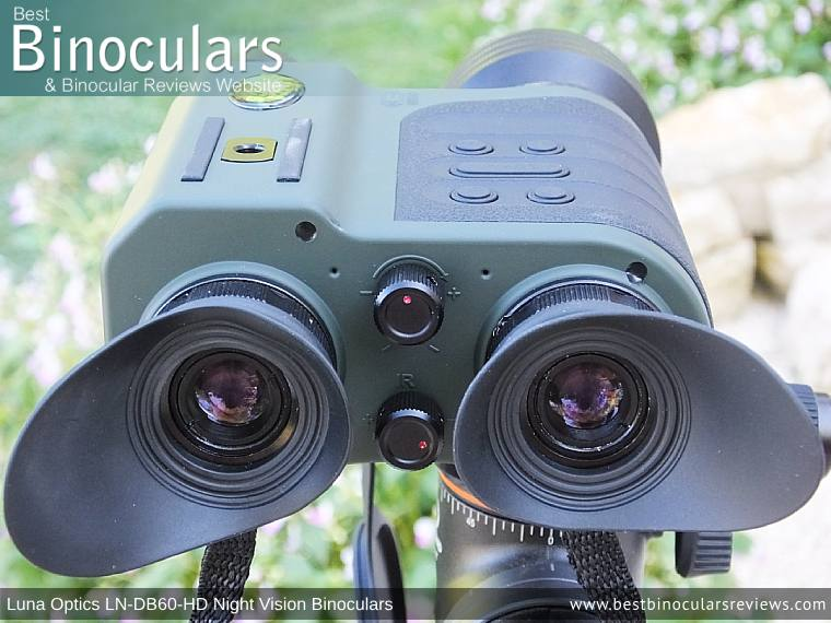 Luna Optics LN-DB60-HD Digital Night Vision Binocular mounted on a tripod
