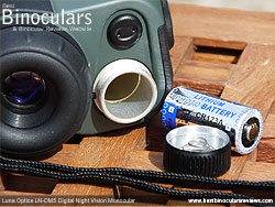 Battery Compartment on the Luna Optics LN-DM5 Digital Night Vision Monocular