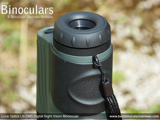 Eyepiece on the Luna Optics LN-DM5 Digital Night Vision Monocular