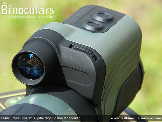 Built-in IR illuminator on the Luna Optics LN-DM5 Digital Night Vision Monocular
