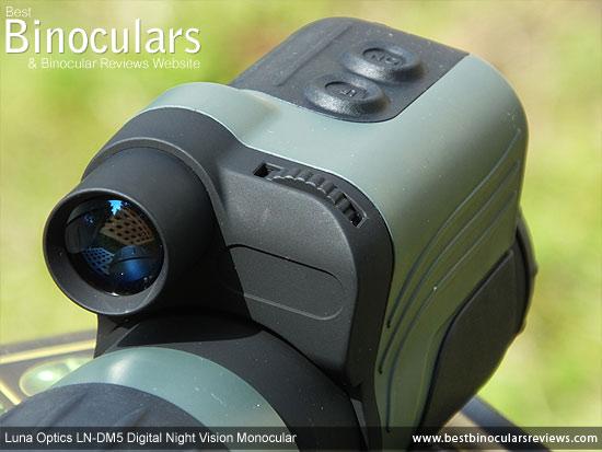 Built-in IR illuminator on the Luna Optics LN-DM5 Digital Night Vision Monocular