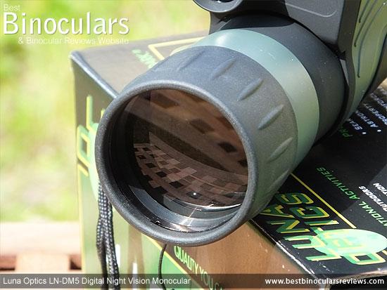 50mm Objective Lens on the Luna Optics LN-DM5 Digital Night Vision Monocular