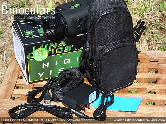 Carry case that comes with the Luna Optics LN-DM50-HRSD Digital Night Vision Viewer/Recorder