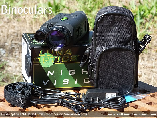 Luna Optics LN-DM50-HRSD Digital Night Vision Viewer/Recorder with Carry Case & Accessories
