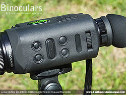 Main Controls on the Luna Optics LN-DM50-HRSD Digital Night Vision Viewer/Recorder