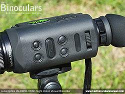 Main Controls on the Luna Optics LN-DM50-HRSD Digital Night Vision Viewer/Recorder
