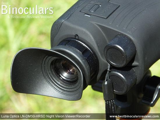 Eyepiece on the Luna Optics LN-DM50-HRSD Digital Night Vision Viewer/Recorder