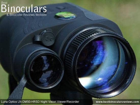 Built-in IR illuminator on the Luna Optics LN-DM50-HRSD Digital Night Vision Viewer/Recorder