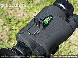 Battery Compartment on the Luna Optics LN-DM50-HRSD Digital Night Vision Viewer/Recorder