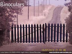 Image taken with the Luna Optics LN-DM50-HRSD Digital Night Vision Monocular in the Evening