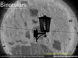 Image taken with the Luna Optics LN-DM50-HRSD Digital Night Vision Monocular at night with IR on