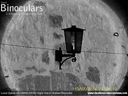 Image taken with the Luna Optics LN-DM50-HRSD Digital Night Vision Monocular at night with IR on