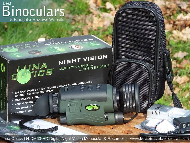 Luna Optics LN-DM60-HD Digital Night Vision Monocular & Recorder with Carry Case & Accessories