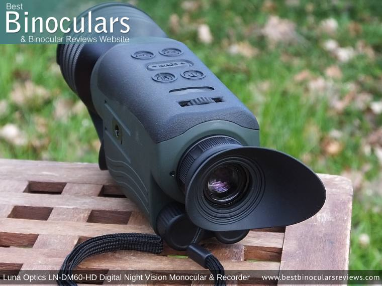 Eyepiece on the Luna Optics LN-DM60-HD Digital Night Vision Monocular & Recorder