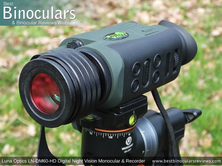 Color Enhancing Filter fitted onto the Luna Optics LN-DM60-HD Digital Night Vision Monocular & Recorder
